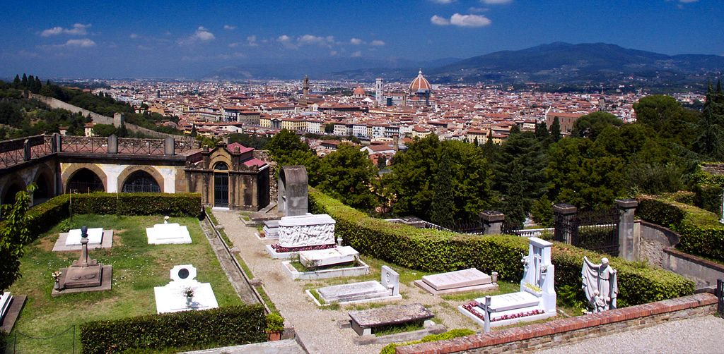 The hills of Florence:  Fiesole and Michelangelo Square