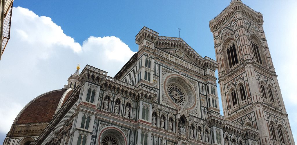 Florence First Walk & Santa Croce Church